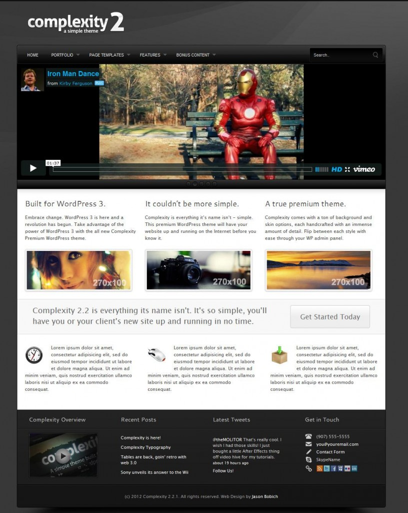 Complexity2 WordPress Theme