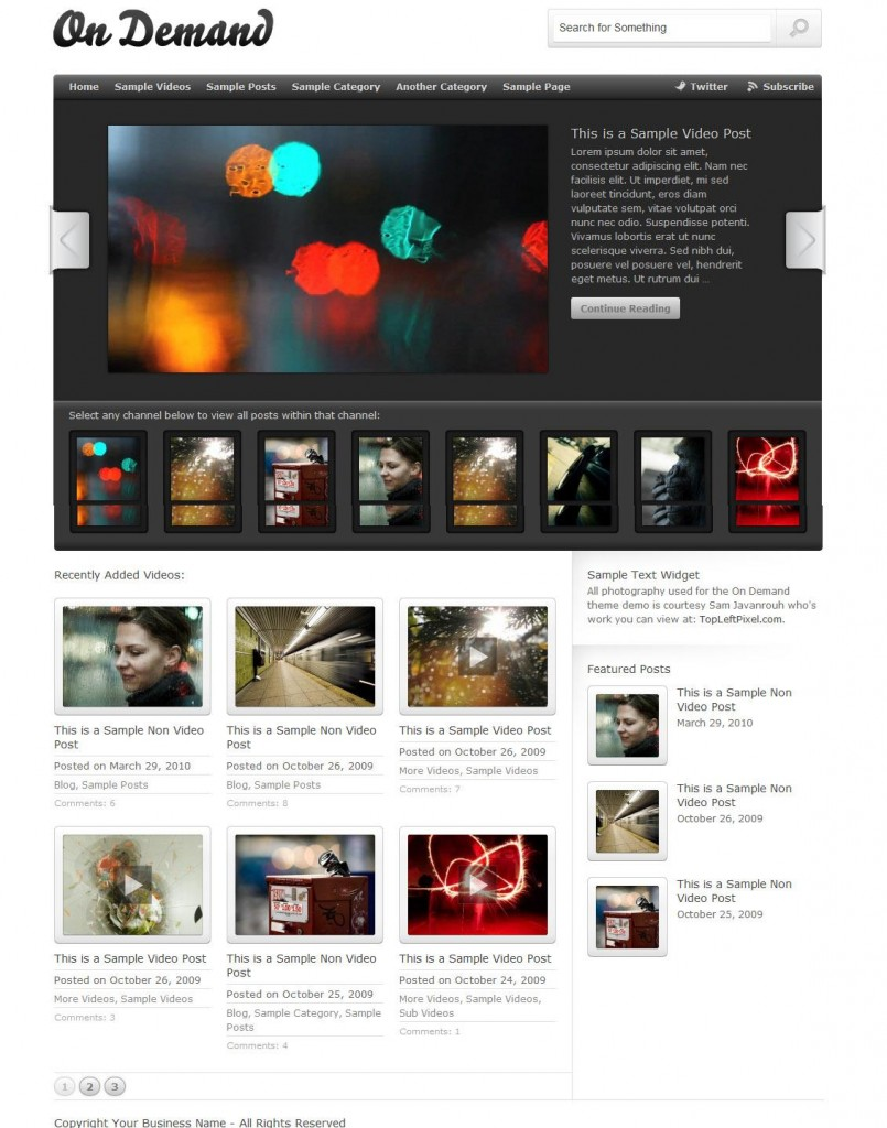 On Demand WP Theme