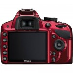 D3200 back view LCD (red)