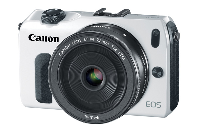 Canon EOS M (front view)