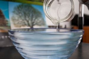 Bowl with water
