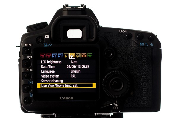 How to record a video with Canon 5D Mark II