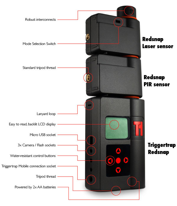 Triggertrap Redsnap with sensors